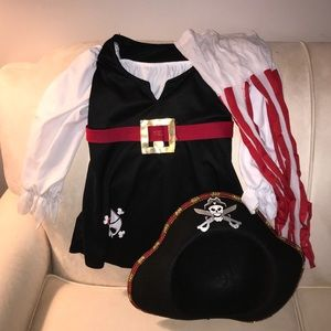 Other - Girls pirate costume with hat and tights! Size 4/5